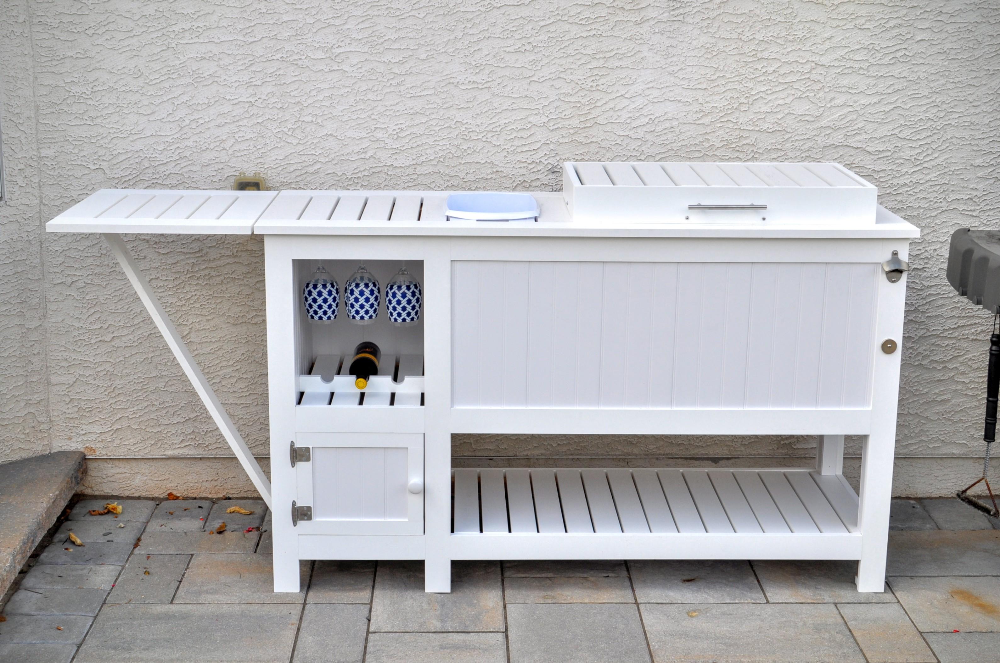 Outdoor Bar with Built in Cooler Accessories Goettner